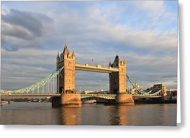 London Tower Bridge Greeting Card by Mary Hershberger
