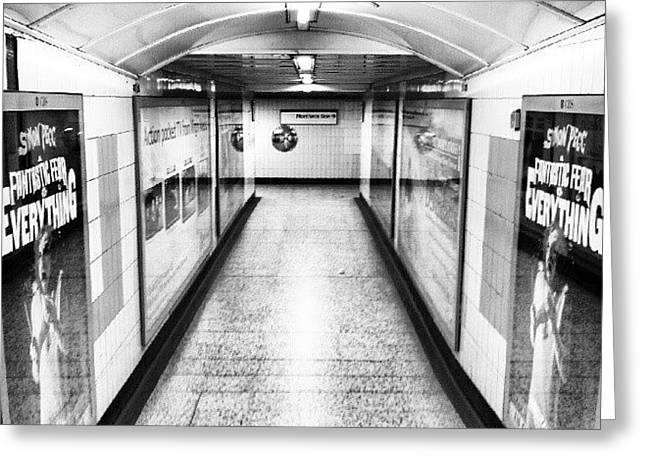 London Undergrounds! #london Greeting Card by Abdelrahman Alawwad