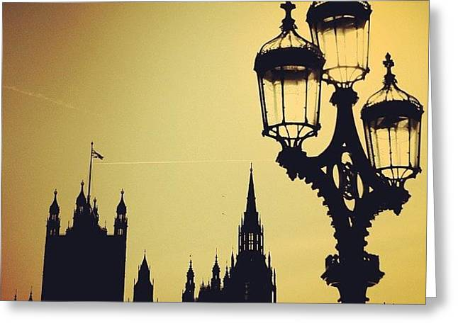 #london #westminster #londoneye #siluet Greeting Card
