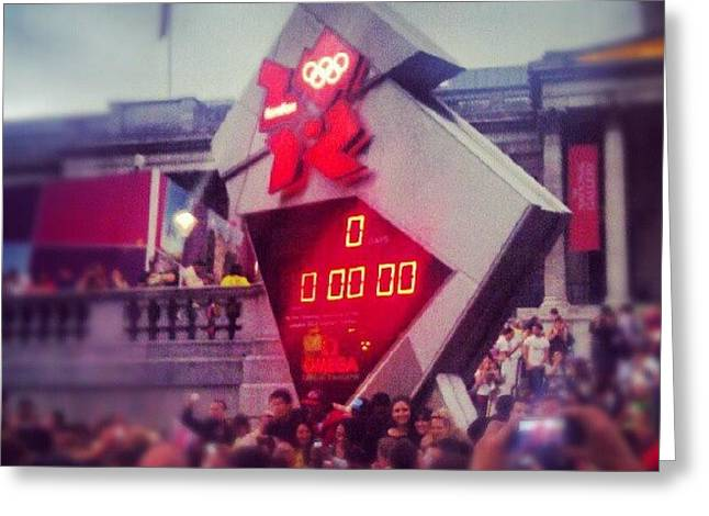 #london2012 Olympics Countdown Clock Greeting Card