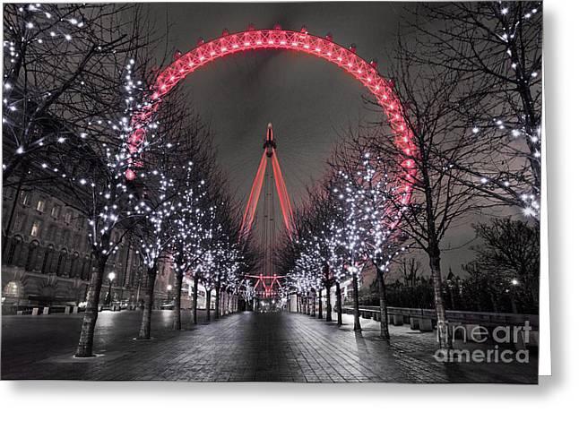 Londoneye Greeting Card by Damien Keating