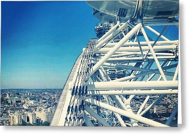 #londoneye #sky #clouds #high #london Greeting Card