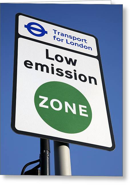 London's Low Emission Zone, 2008 Greeting Card