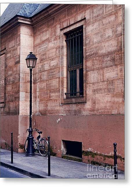 Greeting Card featuring the photograph Lone Bike by Kim Wilson