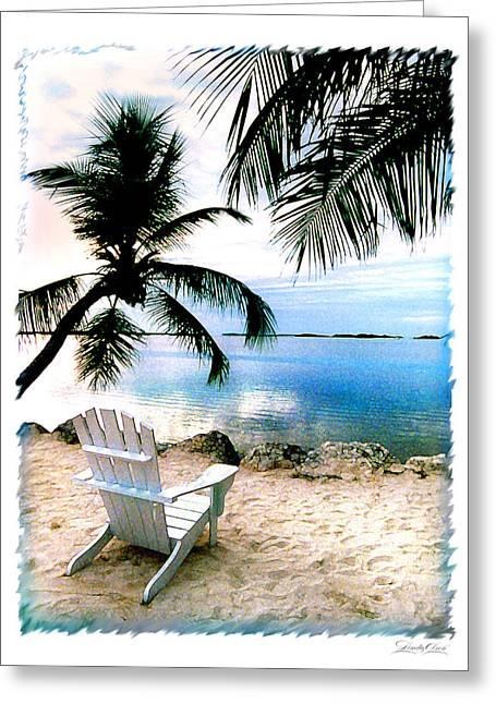 Lone Chair Morada Greeting Card by Linda Olsen