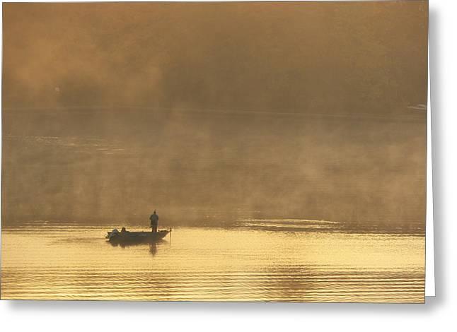 Lone Fisherman 2 Greeting Card by Steven Huszar