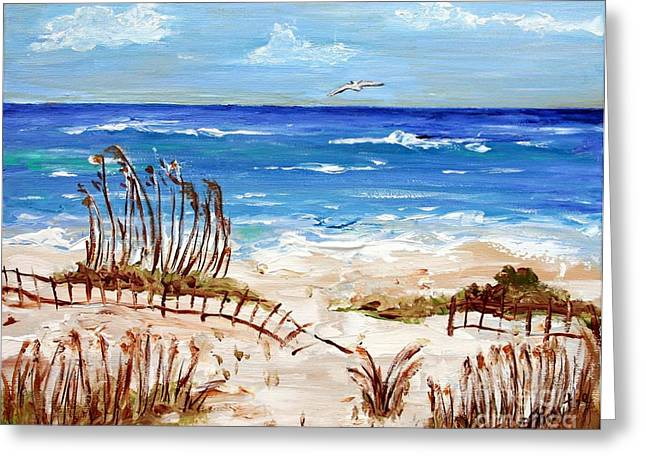 Lone Gull Greeting Card by Jeanne Forsythe