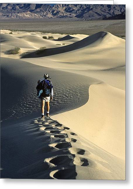 Lone Hiker Death Valley Greeting Card