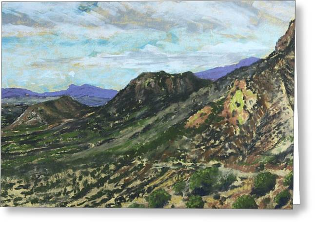 Lone Mountain Greeting Card by Drusilla Montemayor
