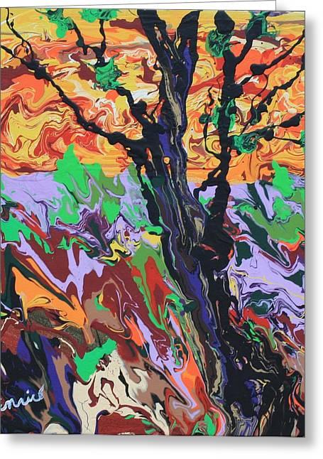 Lone Oak Greeting Card by Art Enrico