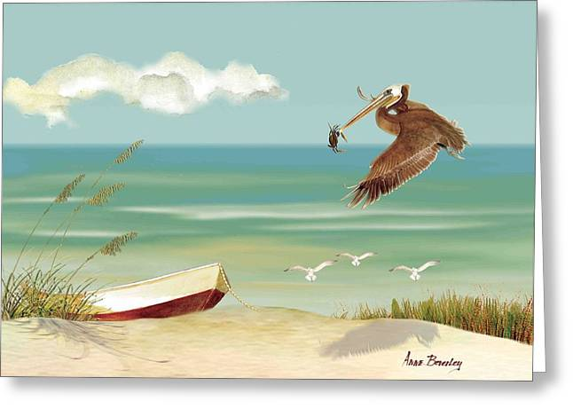 Lone Pelican Greeting Card