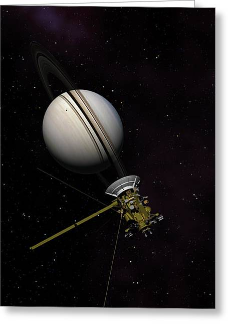 Lone Sentinel At Saturn  Greeting Card