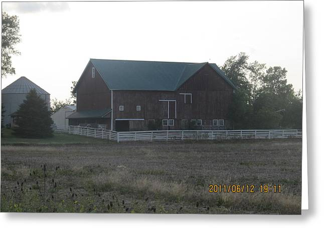 Greeting Card featuring the photograph Lonely Barn by Tina M Wenger