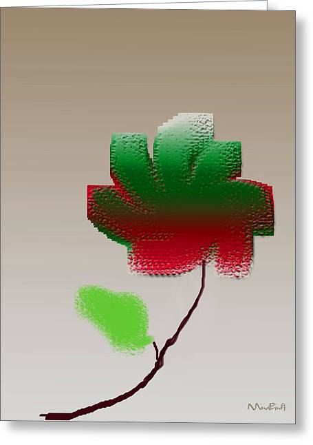Greeting Card featuring the digital art Lonely Beauty by Asok Mukhopadhyay