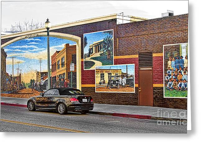 Old Town Santa Paula Mural Greeting Card by Jason Abando