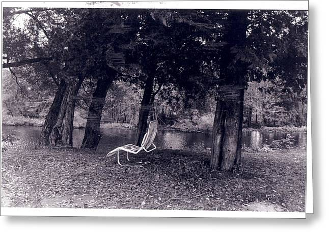 Lonely Chair Greeting Card by Cecelia Taylor-Hunt