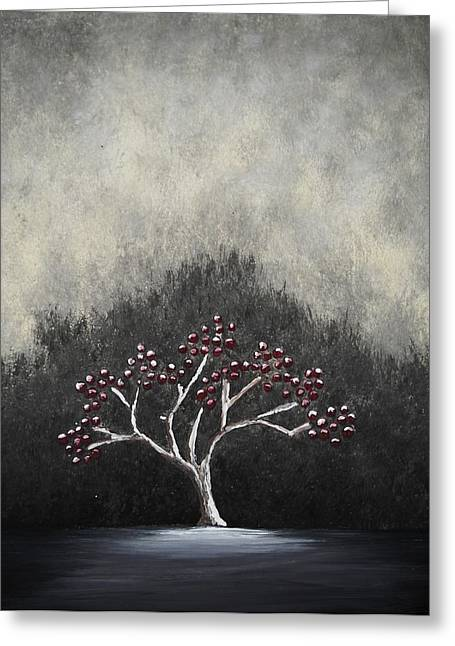 Greeting Card featuring the painting Lonely by Edwin Alverio