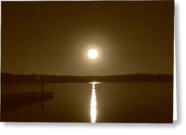 Lonely Moon Rise Greeting Card by Jessica Hatton