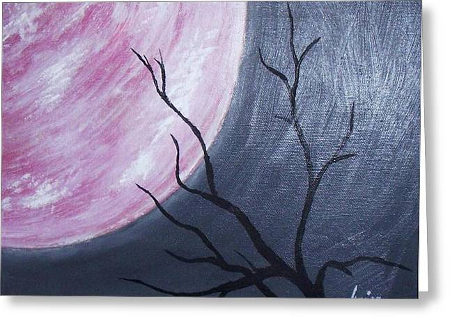 Lonely Night Greeting Card by Marianna Mills