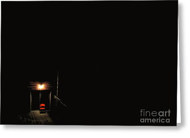 Lonely Red Chair Greeting Card by Chris Traber