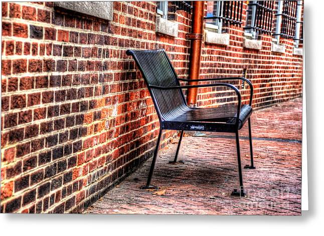 Lonely Seat Greeting Card by Debbi Granruth