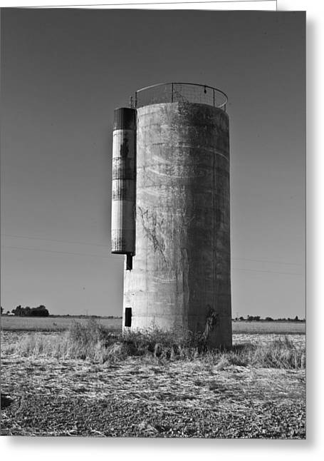 Lonely Silo 6 Greeting Card by Douglas Barnett