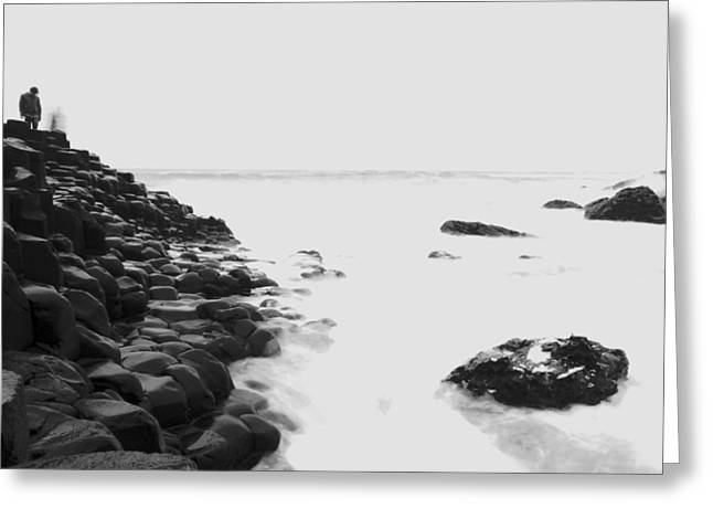 Long Exposure At The Giants Causeway Greeting Card by Christopher Kulfan