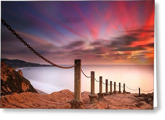 Long Exposure Sunset Shot From The Greeting Card by Larry Marshall