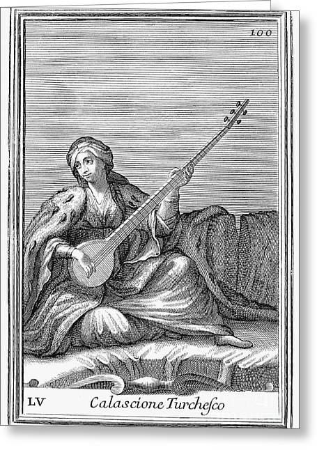 Long Lute, 1723 Greeting Card by Granger