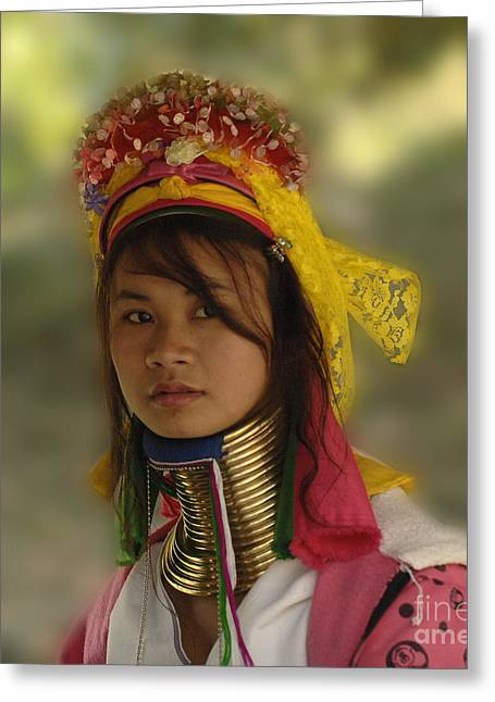 Long Neck Beauty Karen Tribe Greeting Card by Bob Christopher