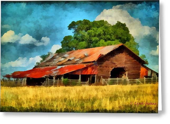 Long Road Barn Greeting Card by Lynne Jenkins