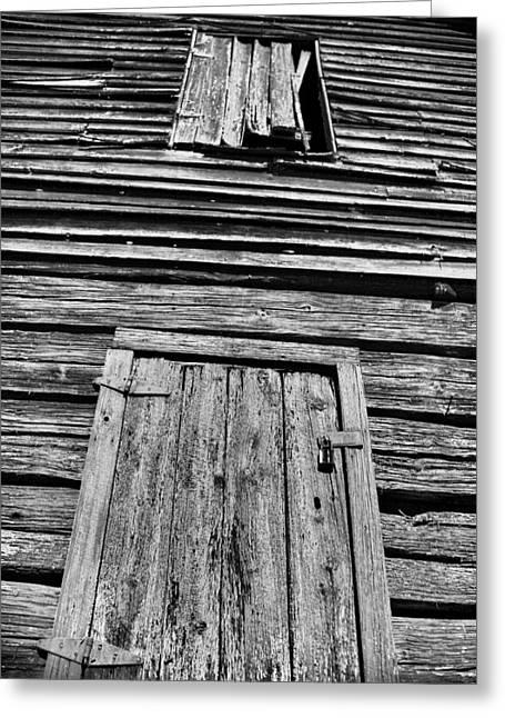 Long Tall Barn Greeting Card by Greg Sharpe