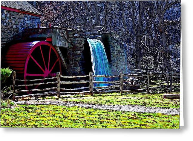 Longfellow's Wayside Gristmill Painting 2 Greeting Card by Earl Jackson
