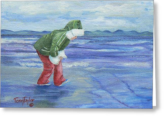 Greeting Card featuring the painting Look At The Reflections by Terry Taylor