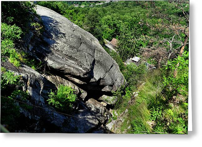 Looking Down Near Chimney Rock Nc  - 10949423a   Greeting Card by Paul Lyndon Phillips