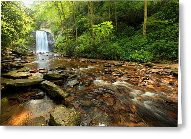 Greeting Card featuring the photograph Looking Glass Falls by Doug McPherson