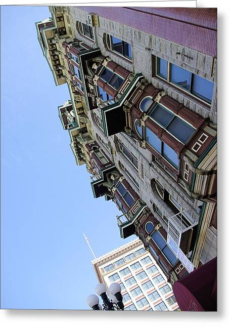 Looking Up From The Gaslamp Greeting Card