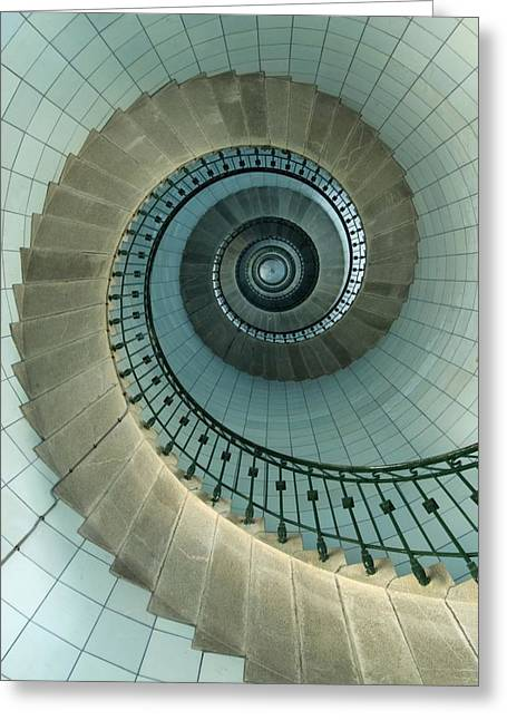 Looking Up The Spiral Staircase Of The Greeting Card