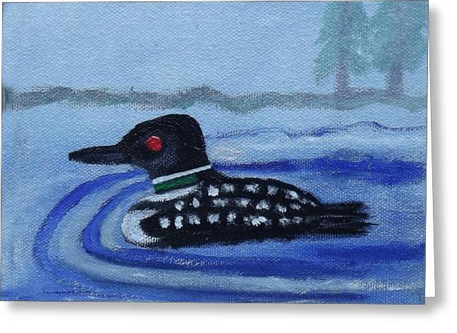 Loon On Lake Winnipeaukee Greeting Card by Margaret Harmon
