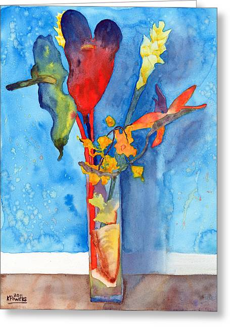 Loose Arrangement Greeting Card