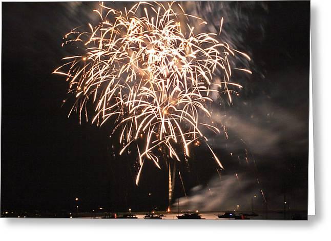 Lopez Island Fireworks 2 Greeting Card by David Salter