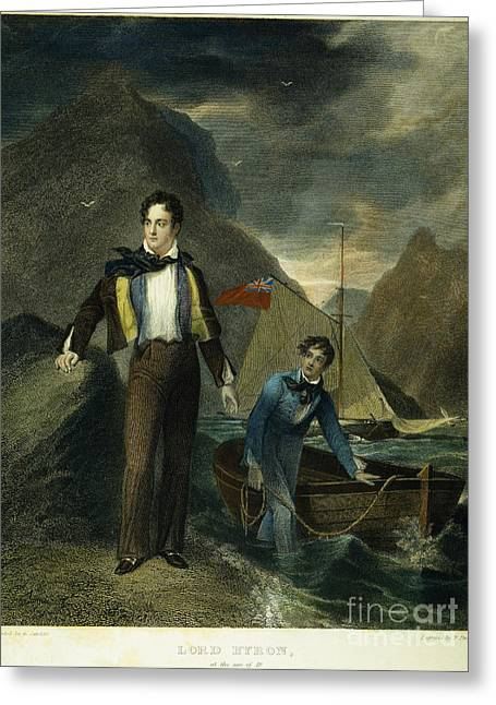 Lord Byron Greeting Card by Granger