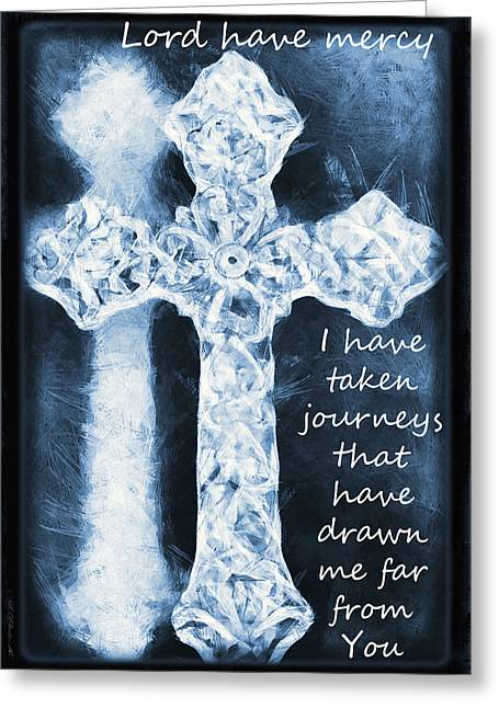 Lord Have Mercy With Lyrics Greeting Card by Angelina Vick