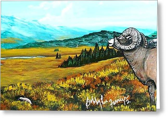 Lord Over The Mountains Greeting Card by Bobbylee Farrier