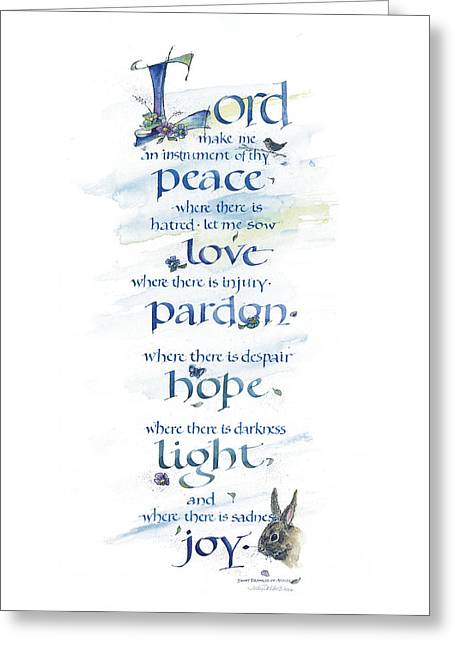 Lord Peace Greeting Card by Judy Dodds