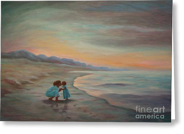 Greeting Card featuring the painting Loren And Jewel by Gretchen Allen