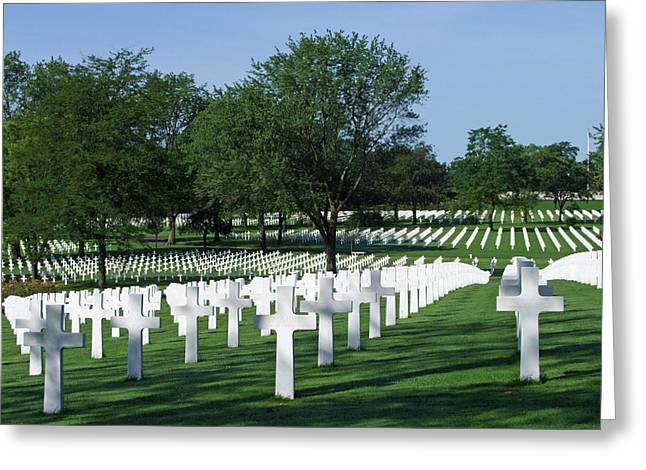 Lorraine Wwii American Cemetery St Avold France Greeting Card