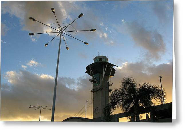 Los Angeles Airport Greeting Card by Ian Stevenson