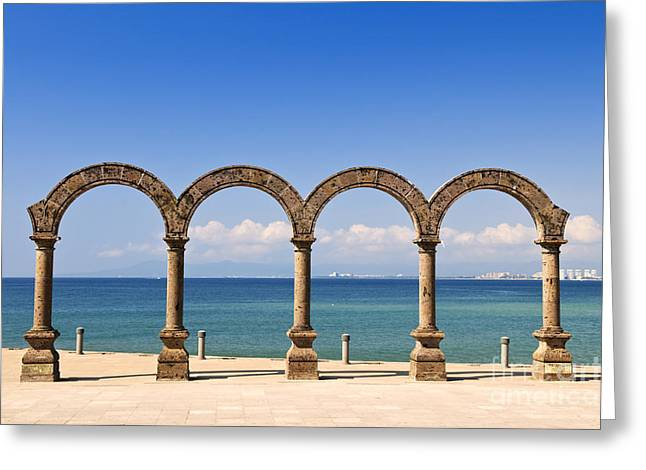 Los Arcos Amphitheater In Puerto Vallarta Greeting Card by Elena Elisseeva