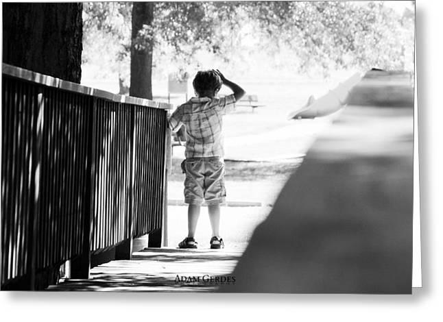 Lost Boy Greeting Card by Adam Gerdes